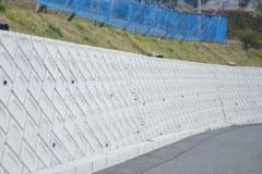 大規模な擁壁工事