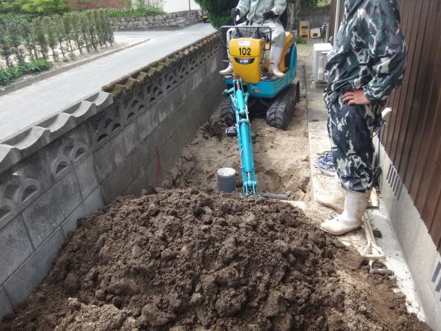 宅内排水工事、下水道工事