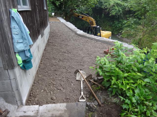 土間のコンクリート舗装