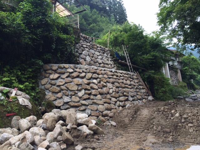 石積の復旧
