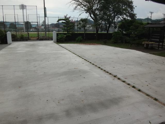 お寺のコンクリート整備