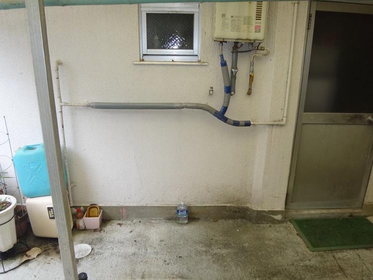 洗濯機の排水を下水道管