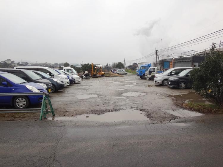 駐車場の舗装前