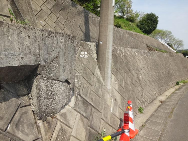 用水路の修理工事