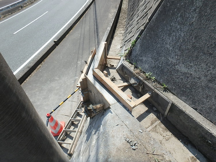 用水路の修繕工事