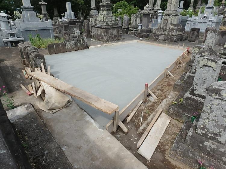 墓地整備工事