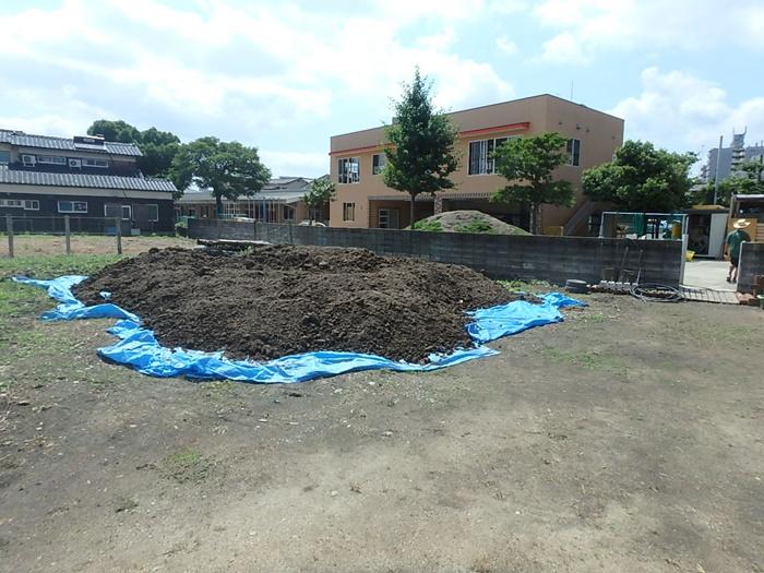幼稚園の砂遊び場の開設
