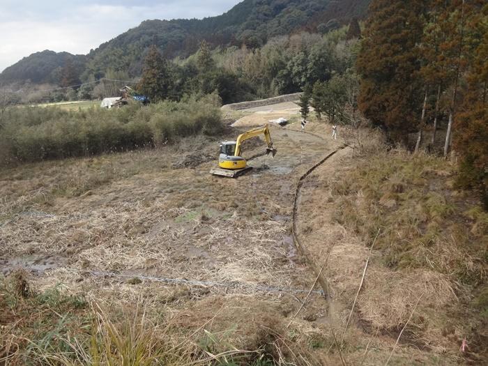 山間部の土木工事