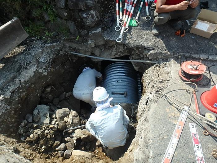 暗渠改修工事