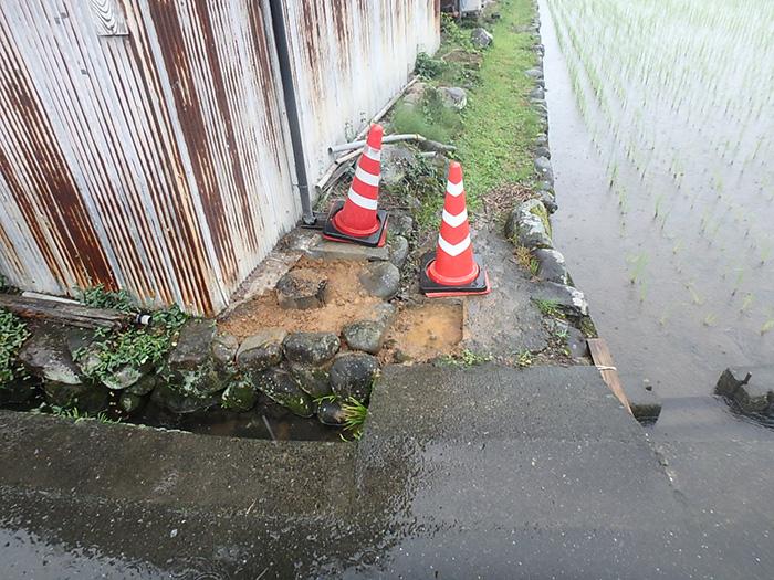 下水道の取付管を設置