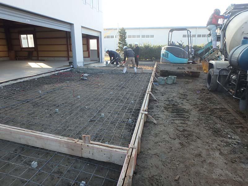 コンクリート舗装 長野トランスポート