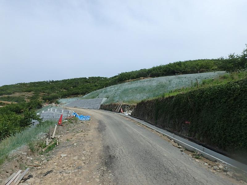農道 柿山 九州北部豪雨 うきは市 Fe石灰 朝倉農林 ヤマド