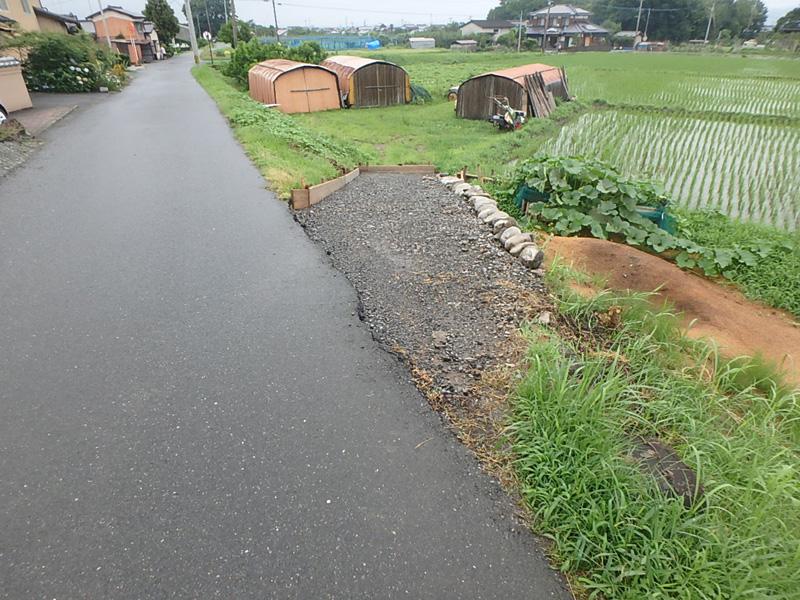 ヤマド 農家 個人様 コンクリート 舗装 進入路 農機具 水田