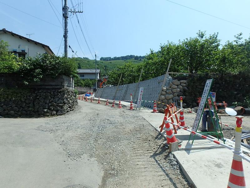 ヤマド うきは市 道路改良 ブロック積 VS側溝 ボックスカルバート L型側溝