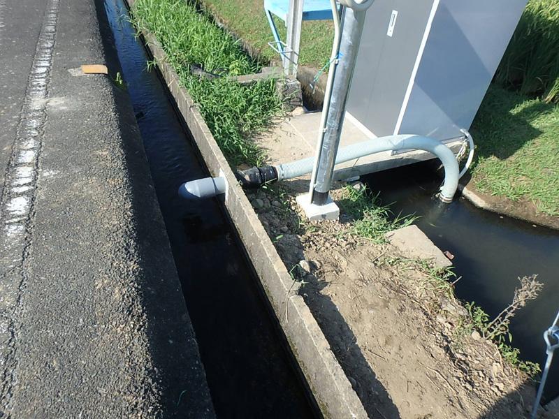 リフォーム うきは市浮羽町高見 土地改良区 田んぼ 揚水 施設 水中ポンプ 操作盤 電気