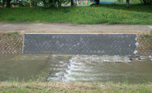 河川災害復旧 ポーラスブロック